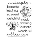 Technique Tuesday - Clear Acrylic Stamps - Simply Beautiful