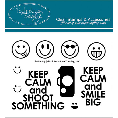 Technique Tuesday - Clear Acrylic Stamps - Smile Big