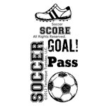 Technique Tuesday - Clear Acrylic Stamps - Soccer
