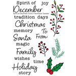 Technique Tuesday - Christmas - Clear Acrylic Stamps - Spirit of December