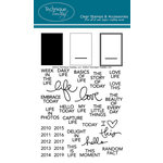 Technique Tuesday - Clear Acrylic Stamps - Sentiments Tabs by Ali Edwards