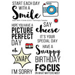 Technique Tuesday - Clear Acrylic Stamps - Start with a Smile