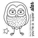 Technique Tuesday - Clear Acrylic Stamps - Star Owl