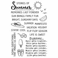 Technique Tuesday - Memory Keepers Studio - Clear Photopolymer Stamps - Summer Adventure