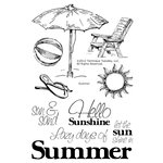 Technique Tuesday - Clear Acrylic Stamps - Summer