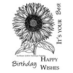 Technique Tuesday - Clear Acrylic Stamps - Sunflower