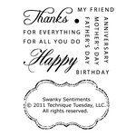 Technique Tuesday - Clear Acrylic Stamps - Swanky Sentiments