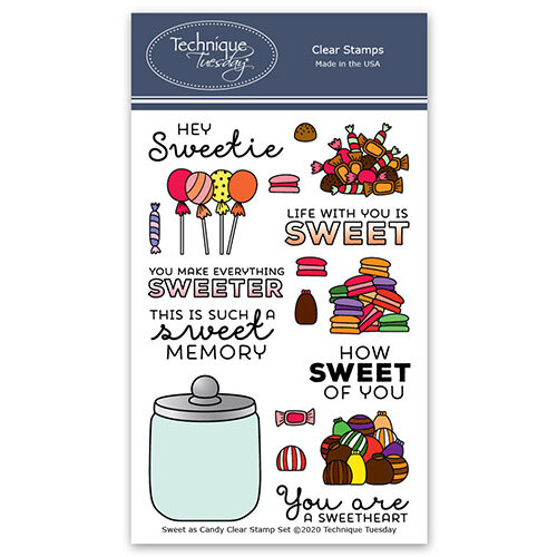 Technique Tuesday - Memory Keepers Studio - Clear Photopolymer Stamps - Sweet as Candy