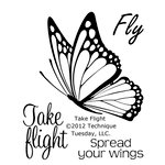 Technique Tuesday - Clear Acrylic Stamps - Take Flight