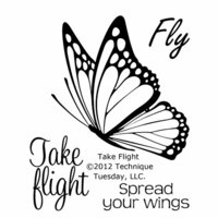 Technique Tuesday - Clear Photopolymer Stamps - Take Flight
