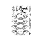 Technique Tuesday - Clear Acrylic Stamps - Thank You Banners