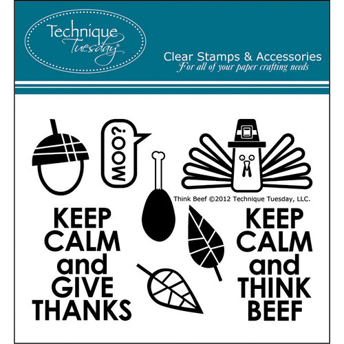 Technique Tuesday - Clear Acrylic Stamps - Think Beef