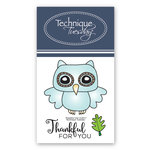Technique Tuesday - Clear Acrylic Stamps - Thankful Owl