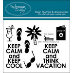 Technique Tuesday - Clear Acrylic Stamps - Think Vacation