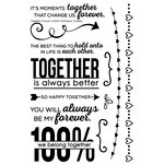 Technique Tuesday - Memory Keepers Studio - Clear Acrylic Stamps - Together Forever