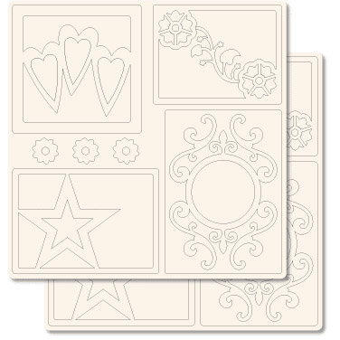 Technique Tuesday - 12x12 Technique Tiles - Tile Toppers - Classic, CLEARANCE