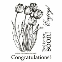 Technique Tuesday - Clear Photopolymer Stamps - Tulips