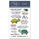 Technique Tuesday - Animal House Collection - Clear Acrylic Stamps - Turtle Trio