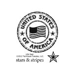 Technique Tuesday - Clear Acrylic Stamps - USA Seal
