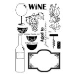 Technique Tuesday - Clear Acrylic Stamps - Vino