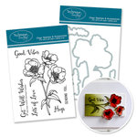 Technique Tuesday - DIY Steel Die and Acrylic Stamp Set - Wild Rose Bundle
