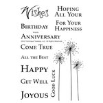 Technique Tuesday - Clear Acrylic Stamps - Wishes