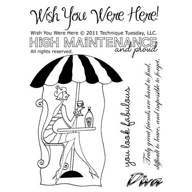 Technique Tuesday - Clear Acrylic Stamps - Wish You Were Here