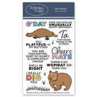 Technique Tuesday - Animal House Collection - Clear Photopolymer Stamps - Wombat and Platypus