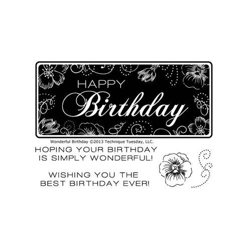 Technique Tuesday - Clear Acrylic Stamps - Wonderful Birthday