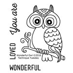 Technique Tuesday - Clear Acrylic Stamps - Wonderful Owl