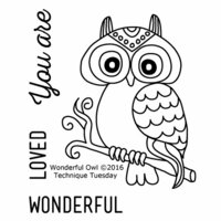 Technique Tuesday - Clear Photopolymer Stamps - Wonderful Owl