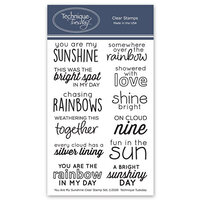 Technique Tuesday - Memory Keepers Studio - Clear Photopolymer Stamps - You Are My Sunshine
