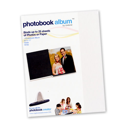 Unibind - Photobook Album - 8.5 x 11 - White Glossy - 3mm