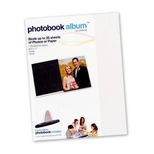 Unibind - Photobook Album - 8.5 x 11 - White Glossy - 3mm