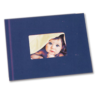 Unibind - Photobook Album - 8.5 x 11 - Blue with Window - 3mm