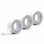 Clear Double Sided Adhesive Roll - 2 Inches x 81 Feet - Permanent - 3 Rolls