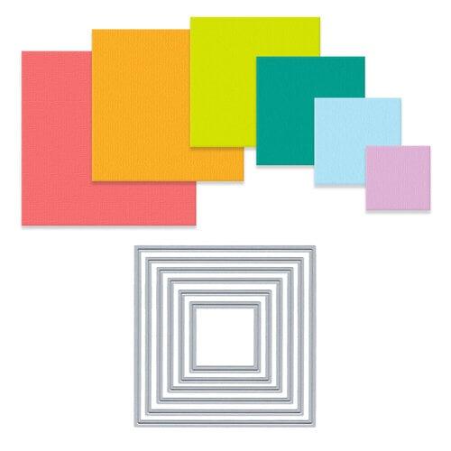 Scrapbook - Decorative Die Set - Nested Squares