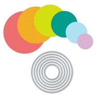 Scrapbook.com - Decorative Die Set - Nested Circles