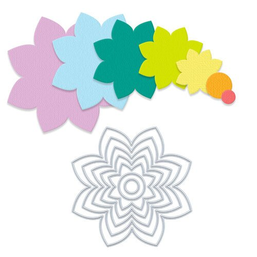 Scrapbook.com - Decorative Die Set - Nested Spring Flowers