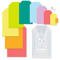 Scrapbook.com - Jumbo Decorative Die Set - Nested Tags