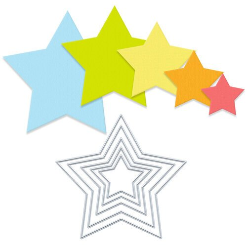 Scrapbook.com - Decorative Die Set - Nested Stars