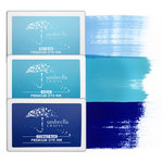 Umbrella Crafts - Premium Dye Ink Pad Kit - Blue Trio