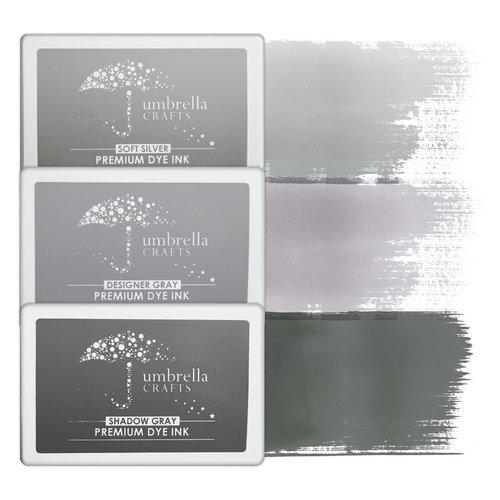 Umbrella Crafts - Premium Dye Ink Pad Kit - Gray Trio
