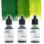 Umbrella Crafts - Premium Dye Reinker Kit - Green Trio