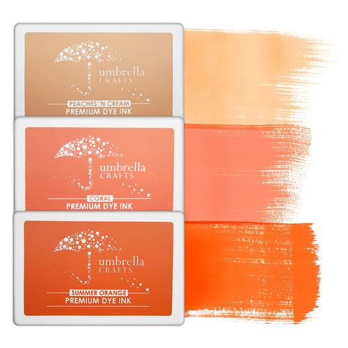 Umbrella Crafts - Premium Dye Ink Pad Kit - Orange Trio