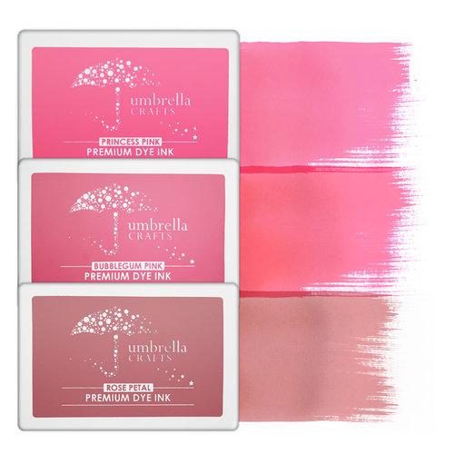 Umbrella Crafts - Premium Dye Ink Pad Kit - Pink Trio