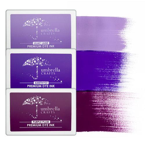 Umbrella Crafts - Premium Dye Ink Pad Kit - Purple Trio