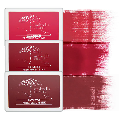 Umbrella Crafts - Premium Dye Ink Pad Kit - Red Trio