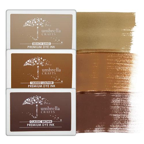 Umbrella Crafts - Premium Dye Ink Pad Kit - Sepia Trio