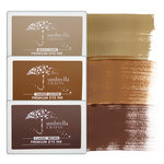 Umbrella Crafts - Premium Dye Ink Pad Kit - Sepia Trio